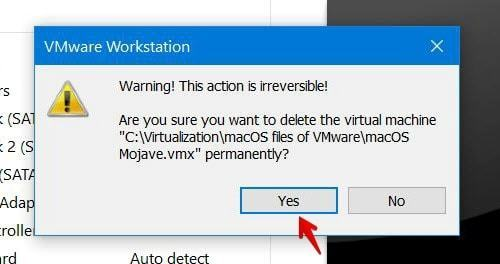 how to delete virtual machine on windows