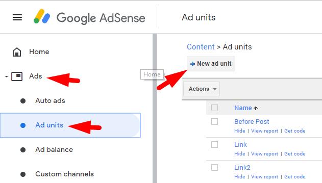 create iin-feed ad code
