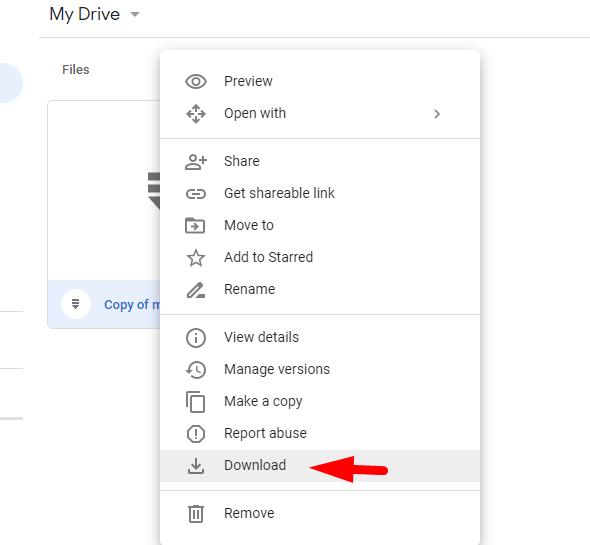 fix google drive download error