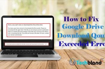 how to fix google drive download qouta exceeded error