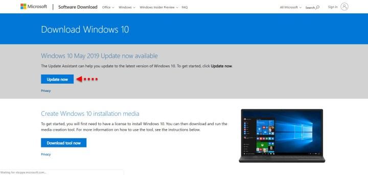 Download Windows 10 new update