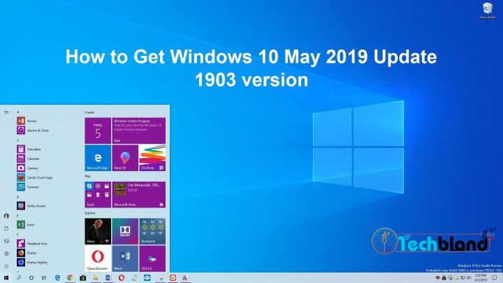 how to get windows 10 may 2019 update 1903 version