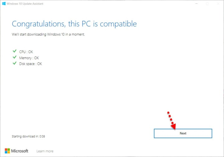 this pc is compatible for windows 10 update