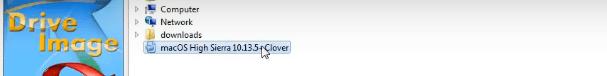 Select MacOS High Sierra Image file