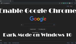 how to enable google chrome dark mode on windows 10