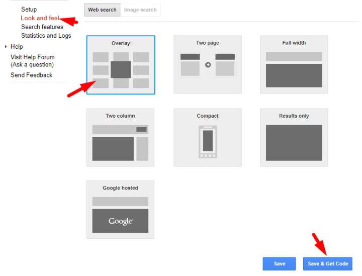 Google Custom Search Engine Look and Feel