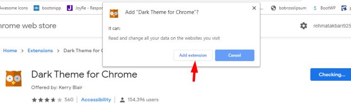Add Dark Mode Chrome Extension