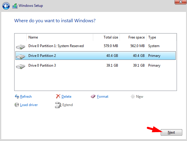 Create Windows 10 Partition