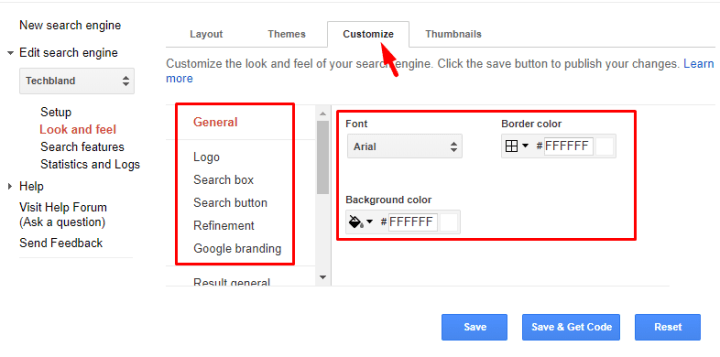 Customize Search Bar