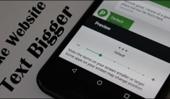 Make Website Text Bigger on Android