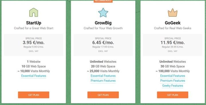 Web Site Host Price Planing