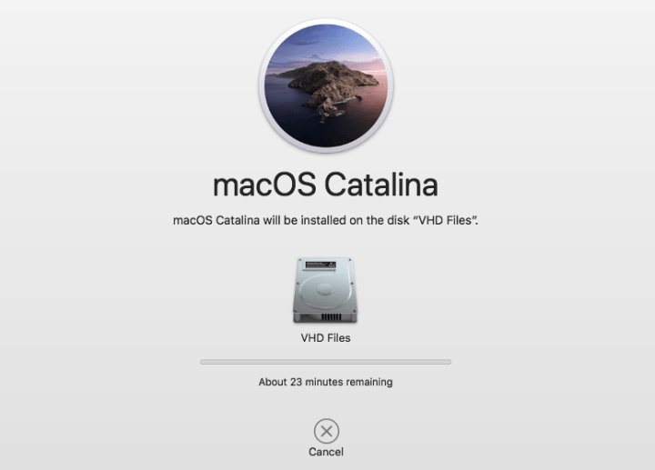 Installing MacOS Catalina on Hard Disk