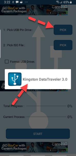 Pick USB Pin Drive on Android