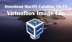 Download MacOS Catalina 10.15 Virtualbox Image File
