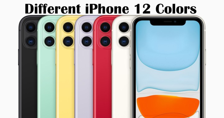 Different Colors of iPhone