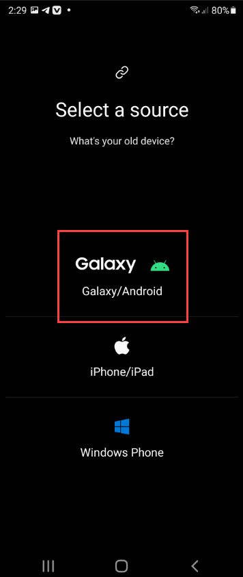 Receive Data from Galaxy Device