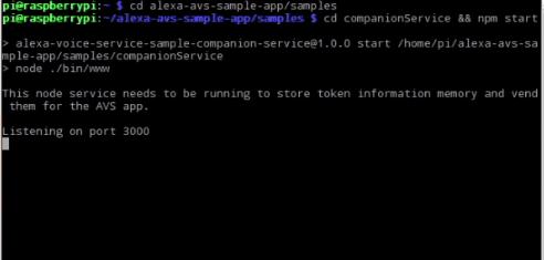 Alexa Pi - Companion Service