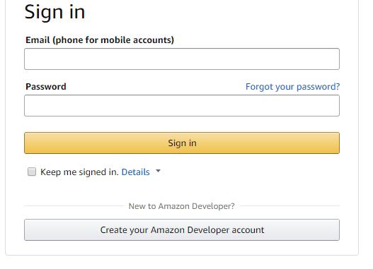 Amazon Developer - Login or Register