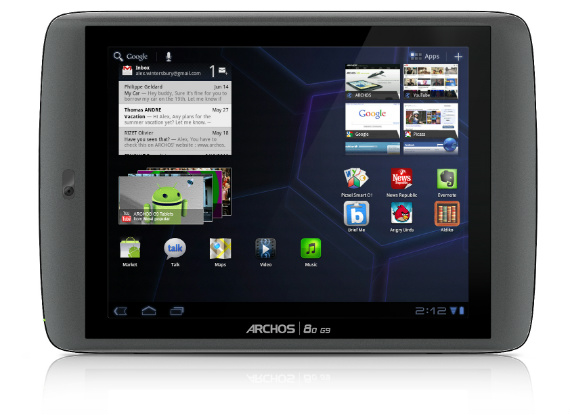 Archos G9 80 tablet Android Honeycomb