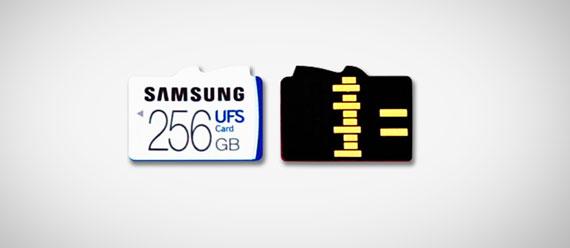 Samsung UFS memory cards 256 570