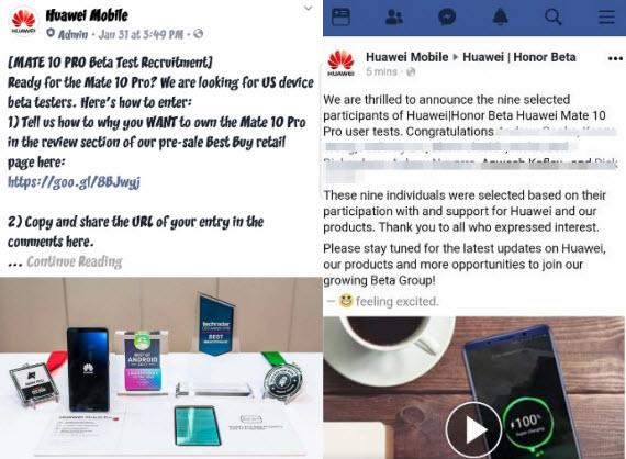 huawei mate 10 pro beta testing
