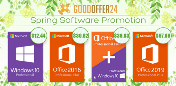 Goodoffer24 Spring Sale: Προσφορές για Windows Pro, Office 2016 Pro και άλλα