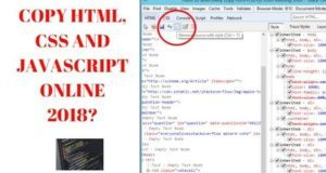 Remove term: copy html and css of a website