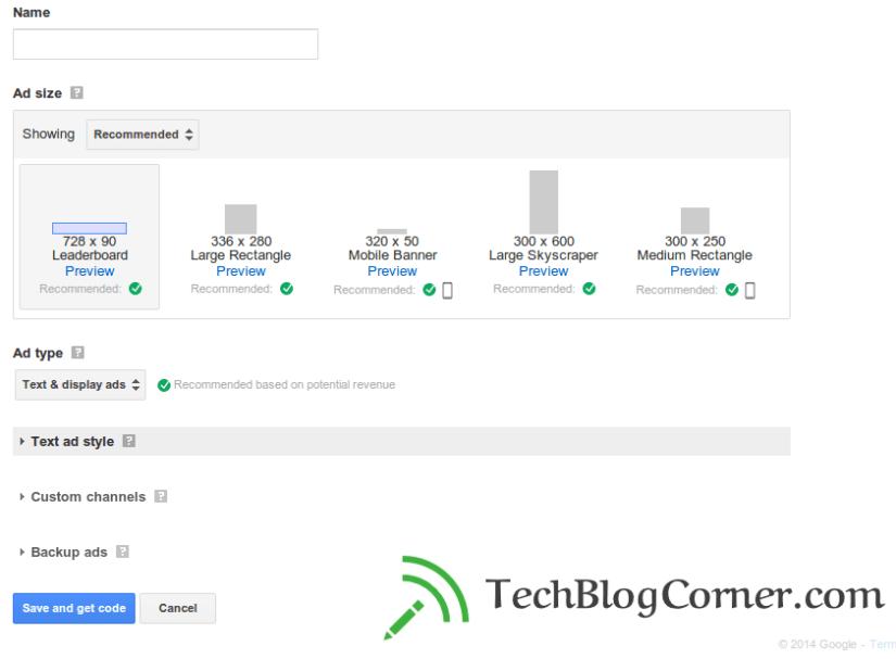 Creating new ad units -techblogcorner