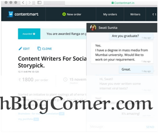 communication in writer & client at contentmart