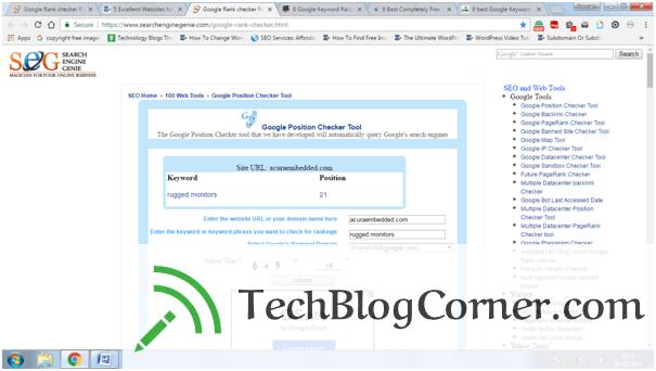 Google Rank Checker-techblogcorner