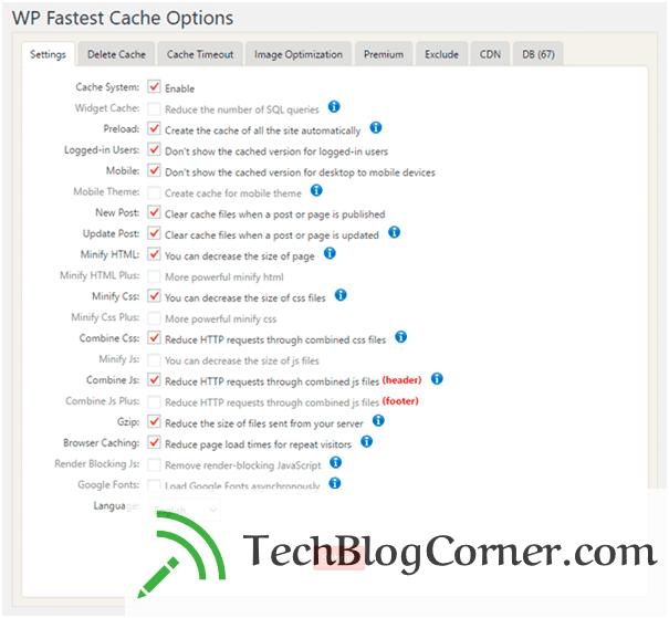 WP Fastest Cache - techblogcorner