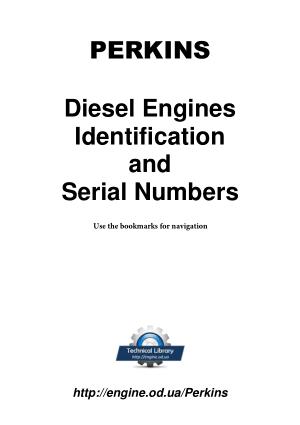PERKINS Diesel Engines Identification and Serial Numbers