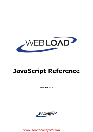 WebLOAD JavaScript Reference Manual Pro