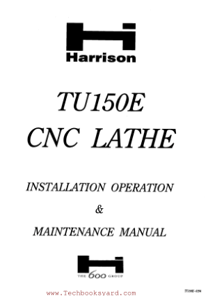 CNC Lathe Installation Operation and Maintenance Manual
