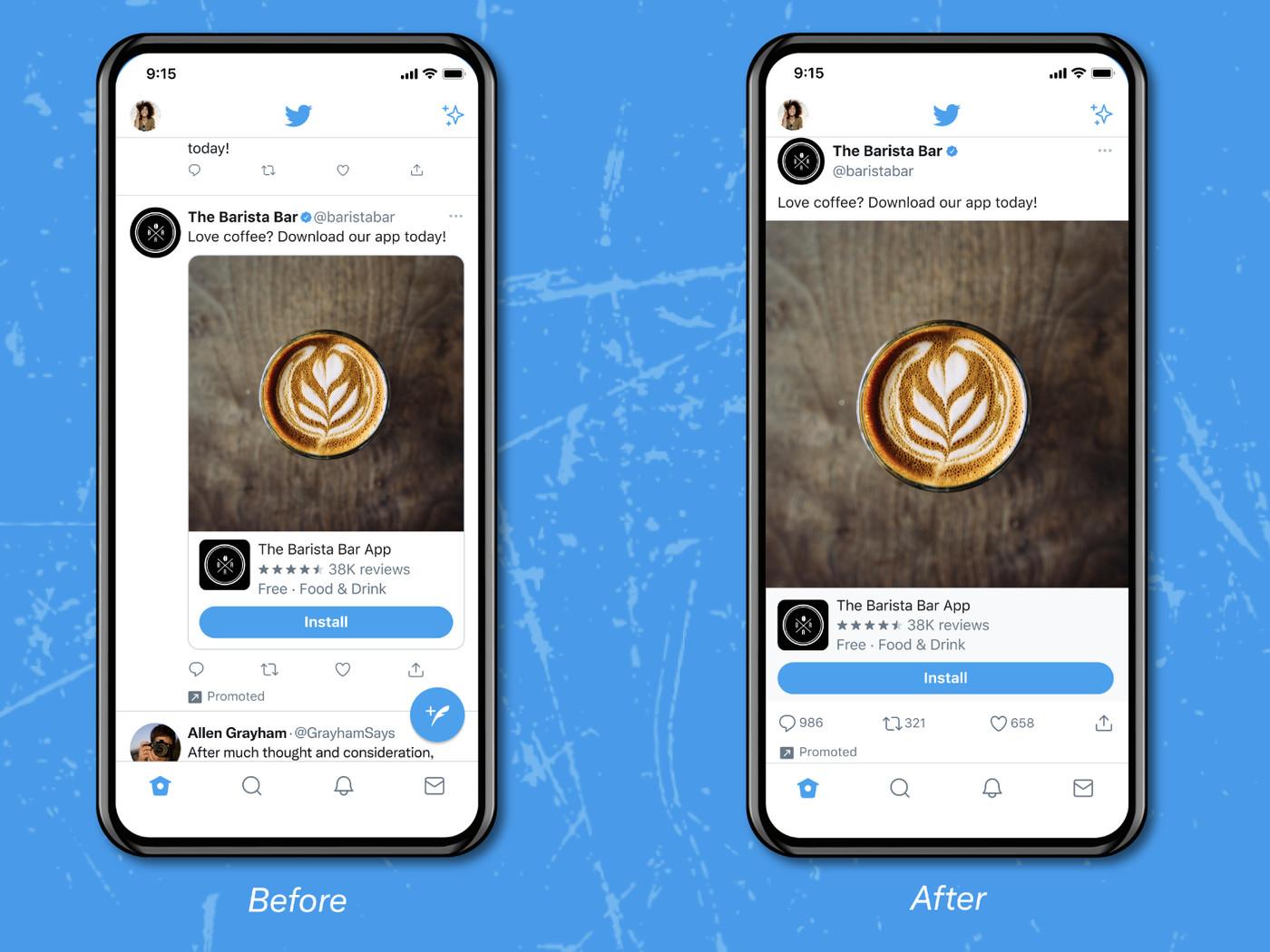 Twitter Saat Ini Sedang Menguji Timeline Baru Dengan Pengalaman Media Edge-to-Edge Untuk Pengguna iOS