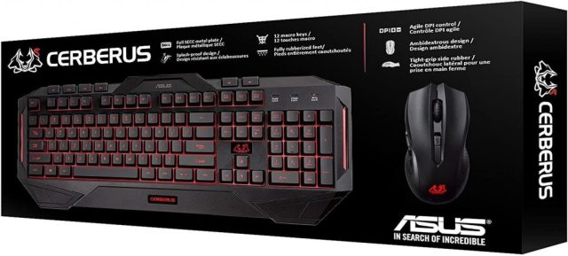 ASUS Gaming Keyboard and Mouse Cerberus Combo