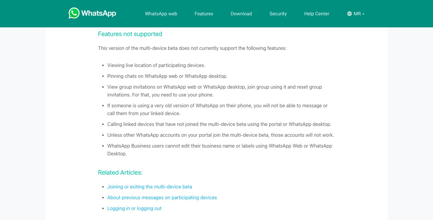 other features you need to know about linked device beta feature