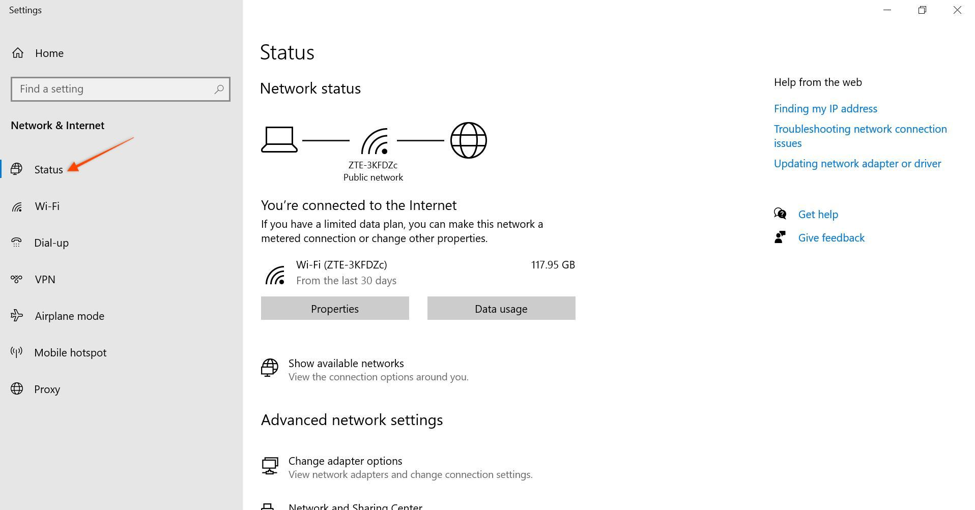network settings in windows err_timed_out