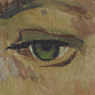 Portrait of Armand Roulin by Vincent van Gogh (Museum Boijmans Van Beuningen) [DETAIL]