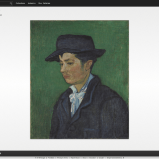 Portrait of Armand Roulin by Vincent van Gogh (Museum Boijmans Van Beuningen)