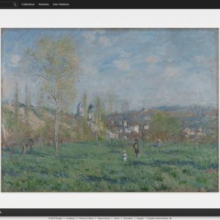 Spring in Vethuil by Claude Monet (Museum Boijmans Van Beuningen)