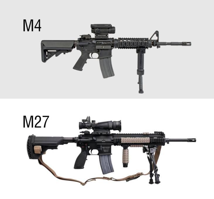 Fuzis M4 e M27