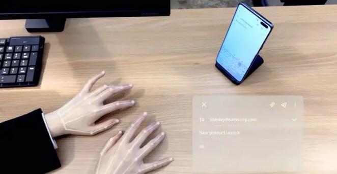Samsung virtual keyboard SelfieType at CES 2020