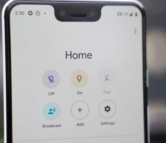 google home app starts showing apps
