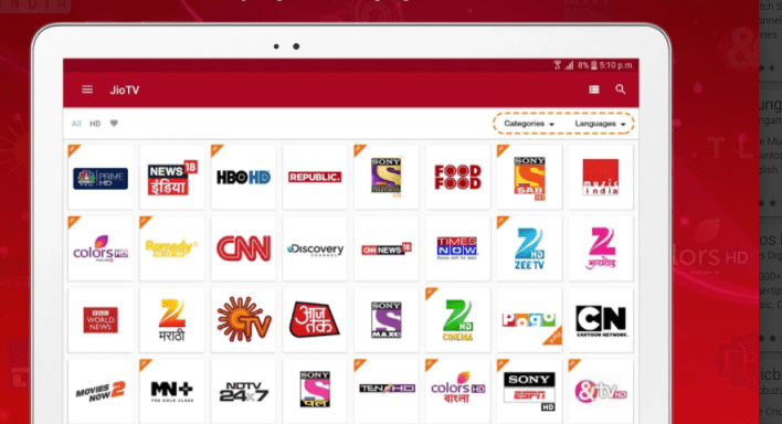Jio TV Apk Download