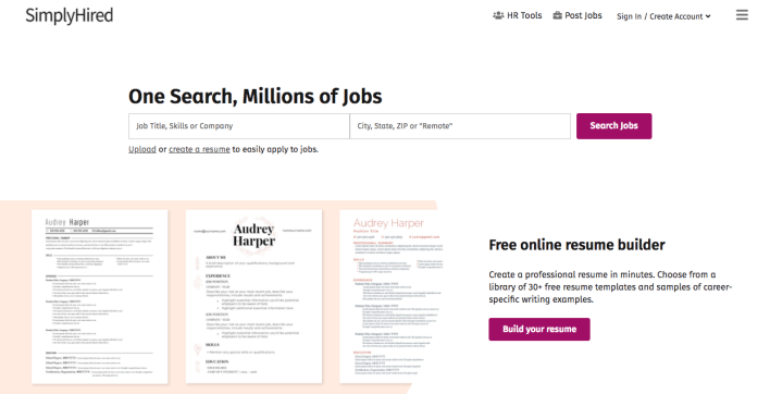 Simplyhired - Best Freelance writing website