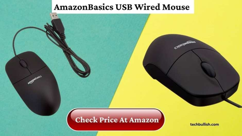 mouse under 500-AmazonBasics Wired Mouse