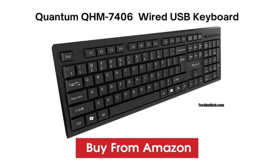 Quantum QHM 7406 Wired USB Keyboard