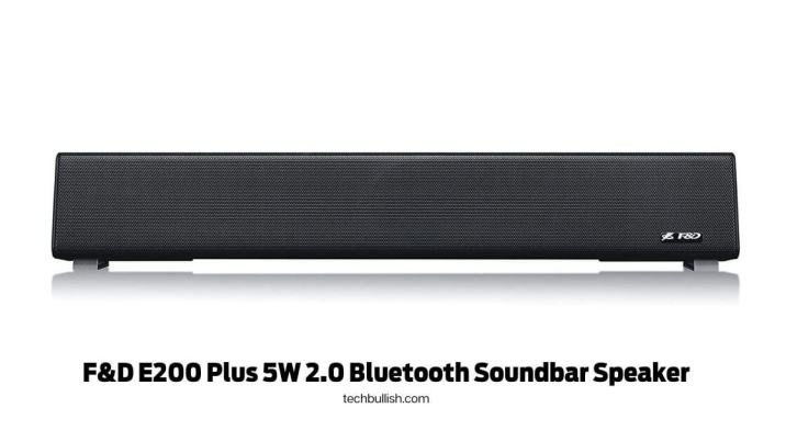 F&D E200 Plus 5W 2.0 Bluetooth Soundbar Speaker