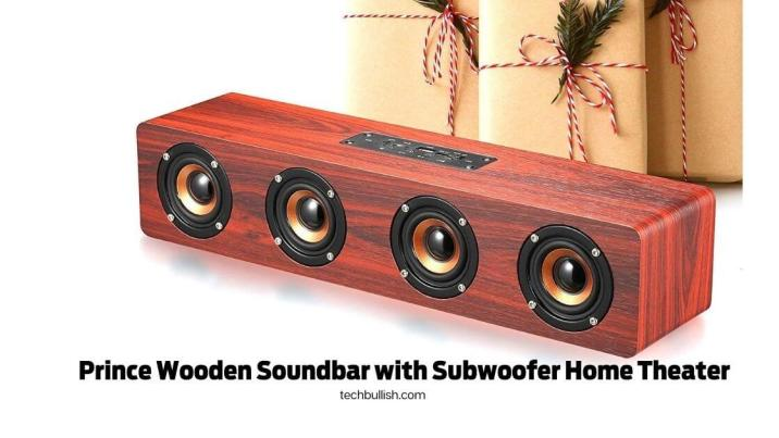 soundbar for tv and pc-Prince Wooden Soundbar with Subwoofer Home Theater